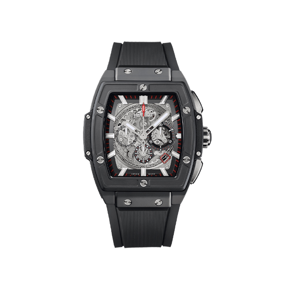 HUBLOT SPIRIT OF BIG BANG CERAMIC BLACK MAGIC CHRONOGRAPH 45 MM