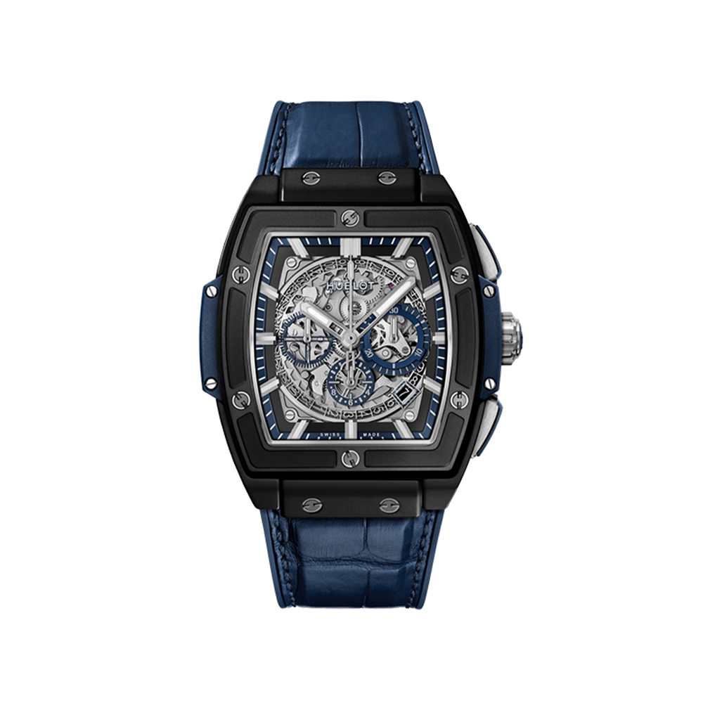 HUBLOT SPIRIT OF BIG BANG CERAMIC BLUE CHRONOGRAPH 45 MM