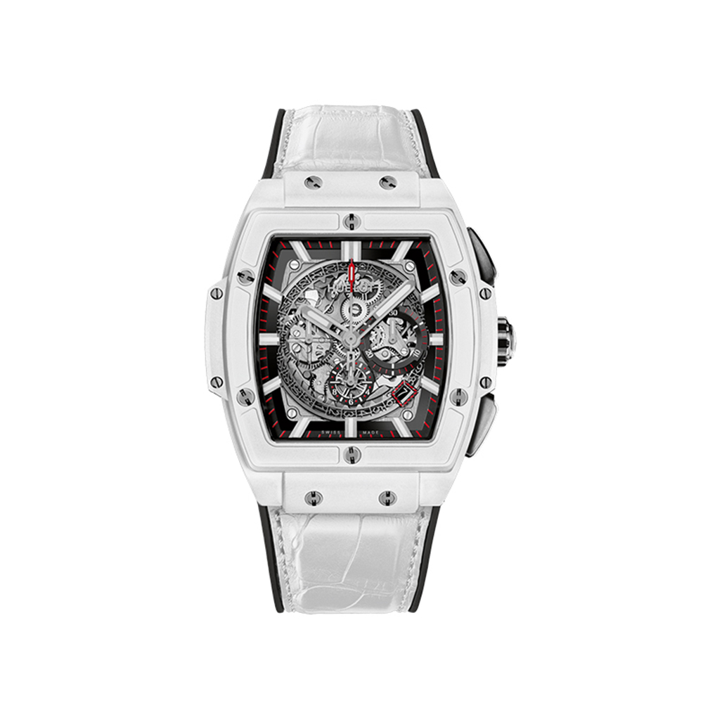 HUBLOT SPIRIT OF BIG BANG WHITE CERAMIC CHRONOGRAPH 45 MM