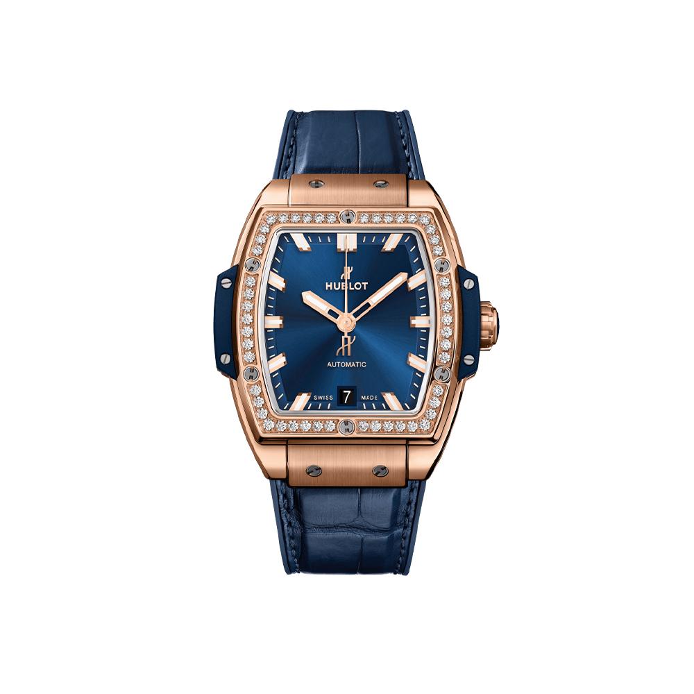 HUBLOT SPIRIT OF BIG BANG KING GOLD BLUE DIAMONDS 39 MM