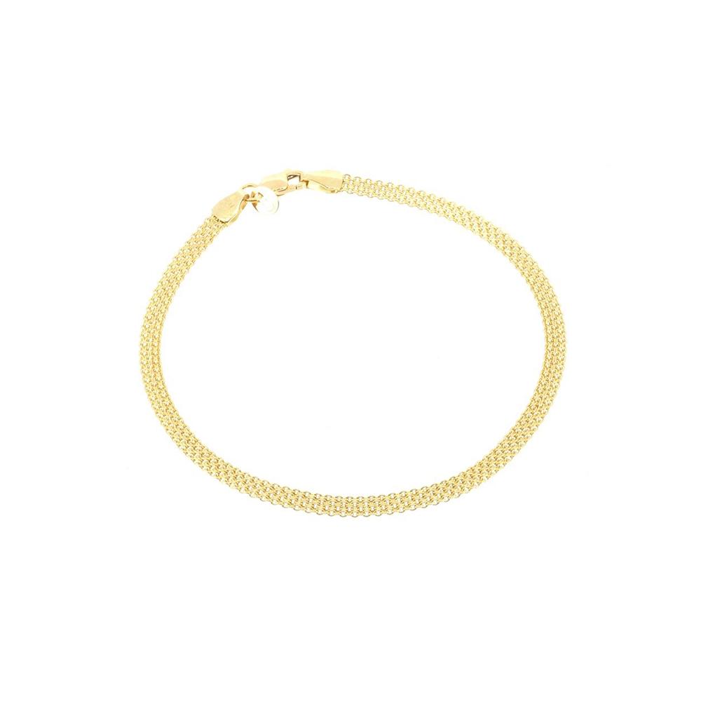 צמיד רשת זהב 14K