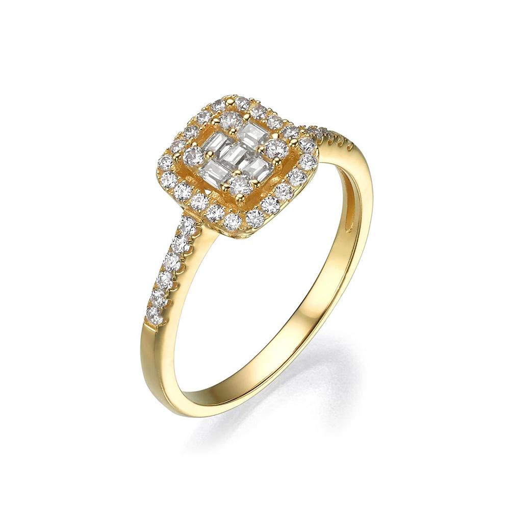 טבעת זהב 14K בגטים